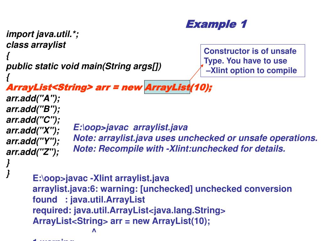 PPT - ArrayList Examples PowerPoint Presentation - ID:3927263