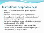 institutional responsiveness