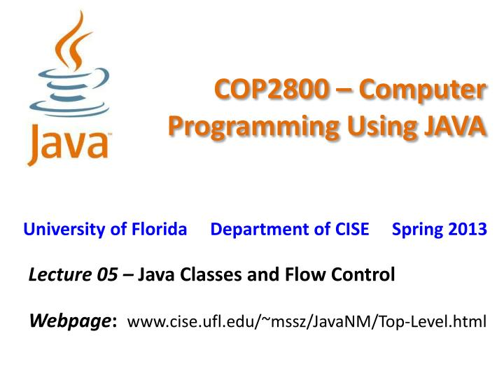 cop2800 computer programming using java n.