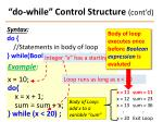 do while control structure cont d