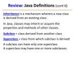 review java definitions cont d1