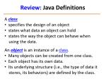 review java definitions