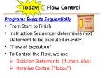 today flow control