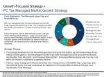 growth focused strategy pc tax managed market growth strategy