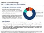 stability focused strategy pc tax managed defensive strategy