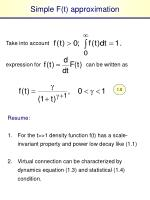 simple f t approximation