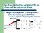 multiple sequence alignments by gradual sequence adition22