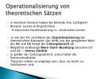operationalisierung von theoretischen s tzen