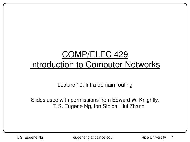 comp elec 429 introduction to computer networks n.