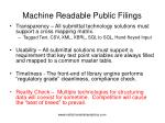 machine readable public filings