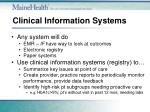 clinical information systems1