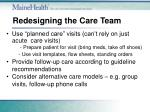 redesigning the care team