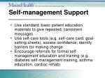 self management support1