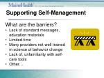 supporting self management