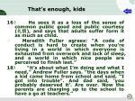 that s enough kids5
