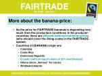 more about the banana price