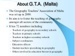 about g t a malta