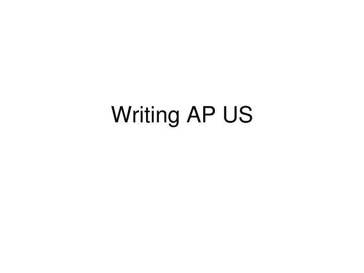 writing ap us n.