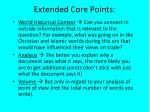 extended core points
