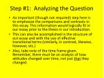 step 1 analyzing the question