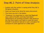 step 6 2 point of view analysis
