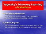 vygotsky s discovery learning evaluation