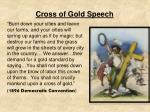 cross of gold speech