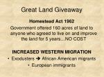 great land giveaway