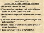 wild west quiz