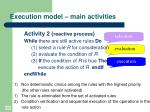 execution model main activities1