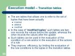 execution model transition tables