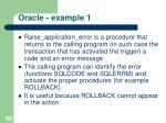 oracle example 11