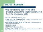 sql 99 example 1