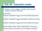 sql 99 execution modes1
