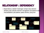 relationship dependency