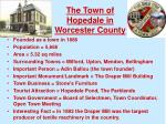 the town of hopedale in worcester county