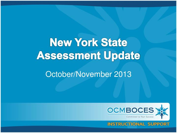 new york state assessment update n.