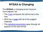 nysaa is changing