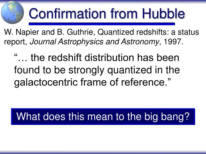 Confirmation from Hubble