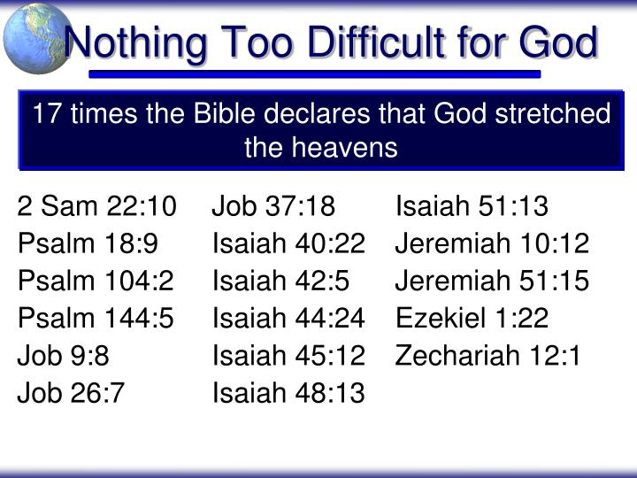 Nothing Too Difficult for God