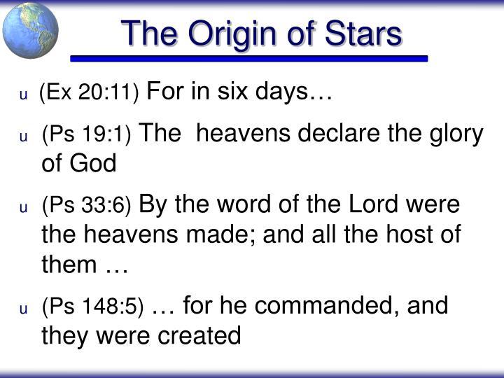 The Origin of Stars