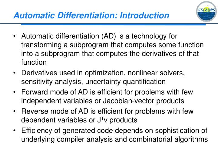 automatic differentiation introduction n.