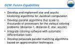 gcm future capabilities