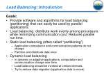 load balancing introduction