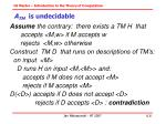 a tm is undecidable