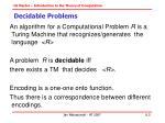 decidable problems