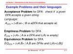 example problems and their languages