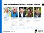 internationally recognised research leaders