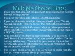 multiple choice hints