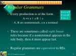regular grammars